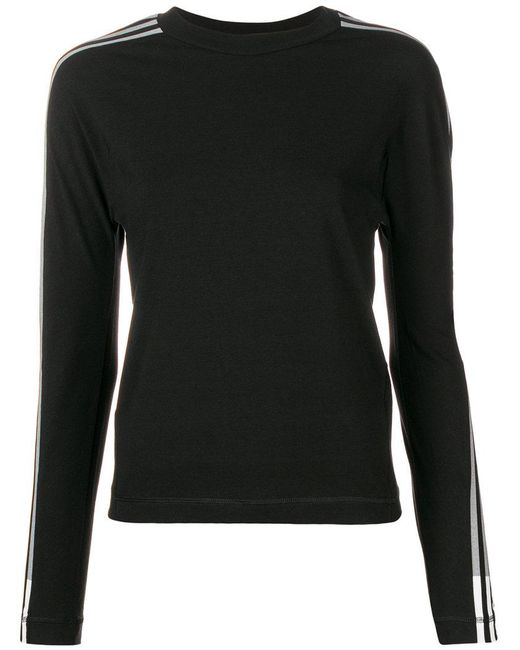 Y-3 - Black Stripe Long Sleeve T-shirt - Lyst