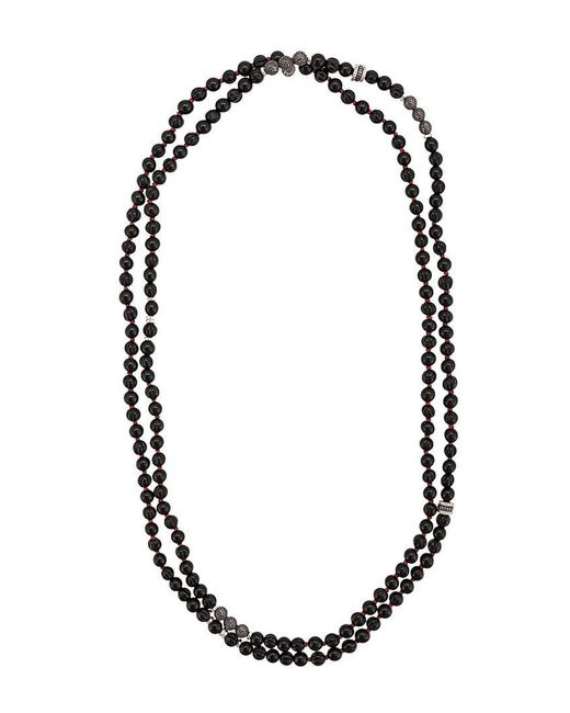 Tateossian - Black Mesh Bead Necklace for Men - Lyst