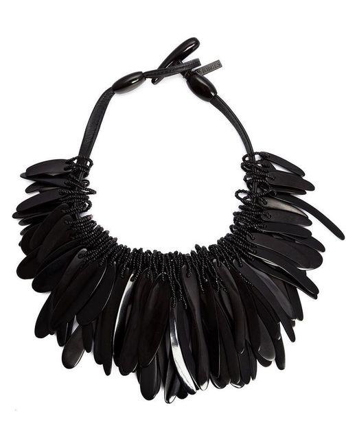 Monies - Black Cluster Necklace - Lyst