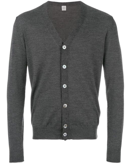 Eleventy | Gray Button Up Cardigan for Men | Lyst