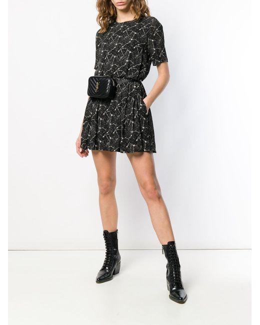 4889721e0fe Saint Laurent Black Constellation Print Dress Saint Laurent Black  Constellation Print Dress ...