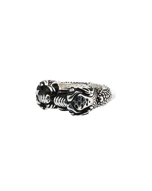 96e80e6993d497 Gucci - Metallic Tiger Heads Ring for Men - Lyst ...