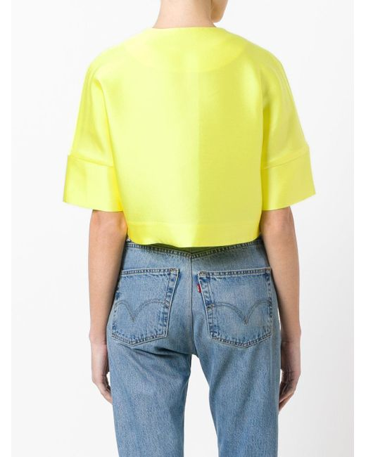 Geniue Stockist Online short sleeved crop length jacket - Green P.A.R.O.S.H. Reliable Online P7vPCz1