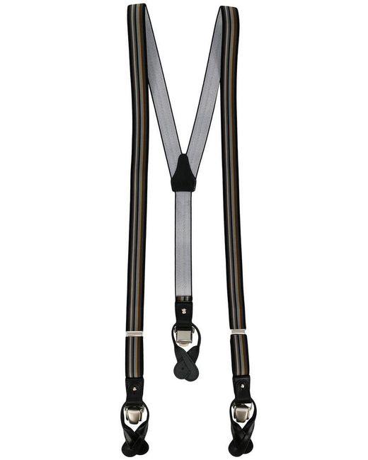 Tagliatore - Blue Striped Braces for Men - Lyst