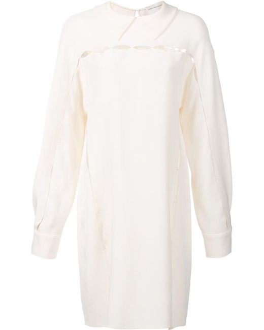 Maison Rabih Kayrouz | White Cut-off Detailing Dress | Lyst