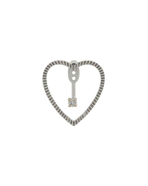 Yvonne Léon Metallic 18kt Gold And Diamond Heart Earrings