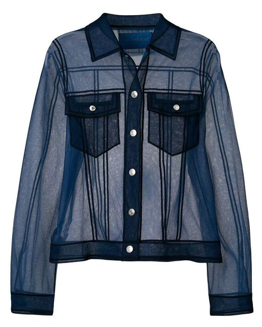 Viktor & Rolf - Blue Sheer Shirt-like Top - Lyst