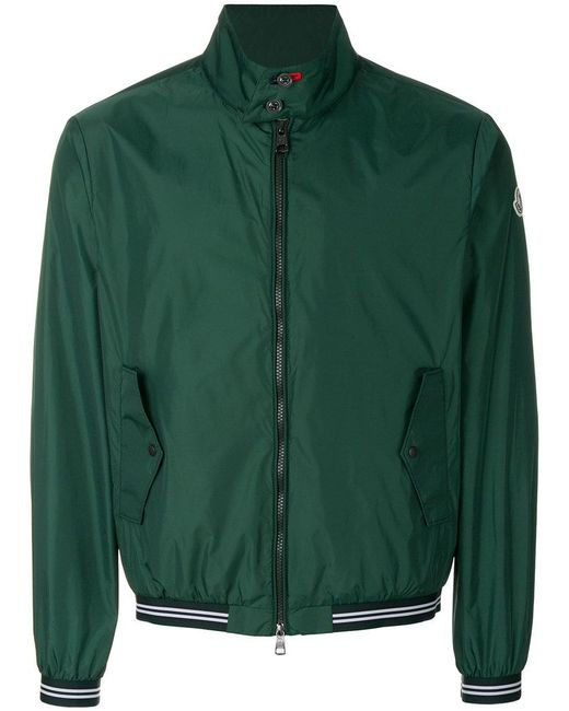 Moncler - Green High Neck Bomber Jacket for Men - Lyst