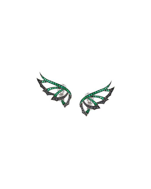 Stephen Webster | Green 'magnipheasand' Diamond And Emerald Earrings | Lyst