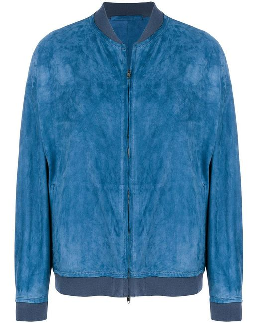 Salvatore Santoro - Blue Zipped Jacket - Lyst