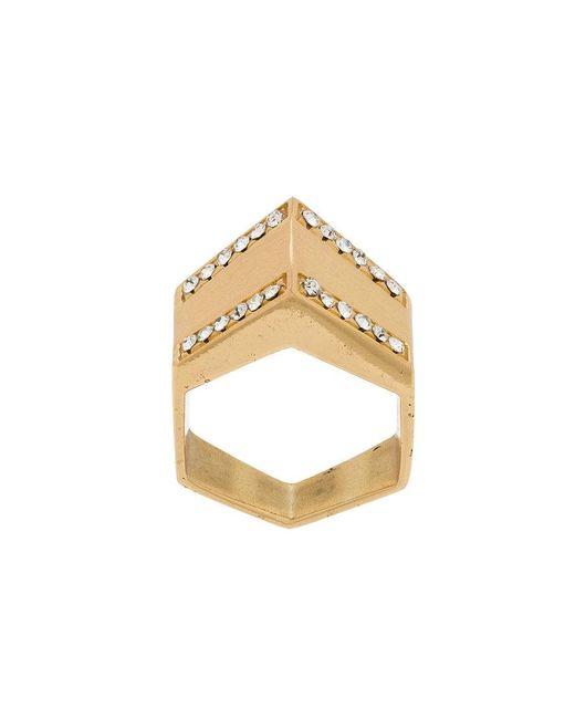 FEDERICA TOSI - Metallic Pyramid Ring - Lyst