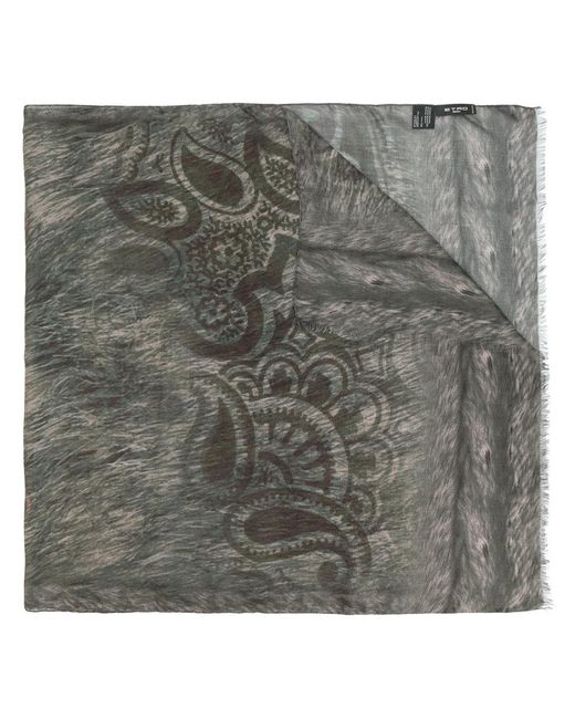 Etro - Gray Animal Print Scarf for Men - Lyst