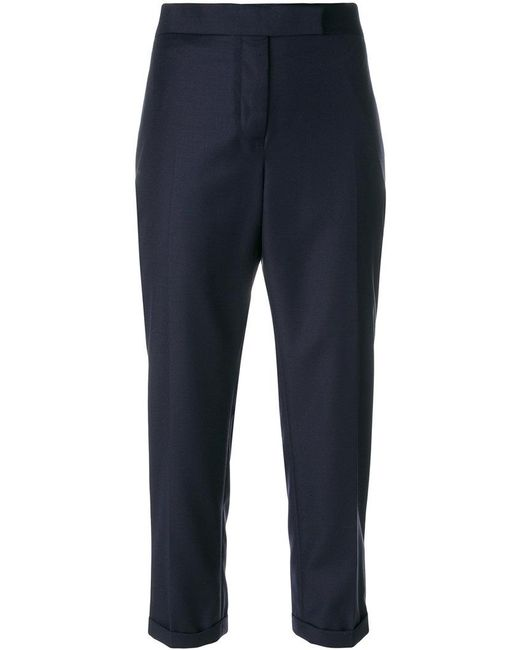 Thom Browne - Blue Cropped Tailor Trousers - Lyst
