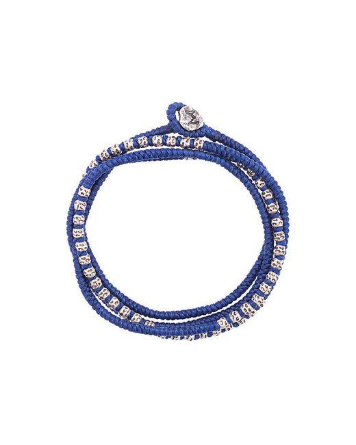 M. Cohen - Blue Beaded Bracelet-necklace for Men - Lyst