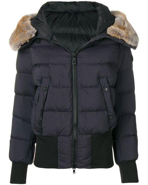 Peuterey - Black Fur Trimmed Puffer Jacket - Lyst