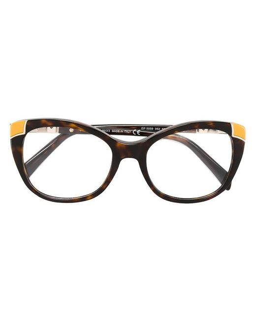 Emilio Pucci | Brown Butterfly Frame Glasses | Lyst