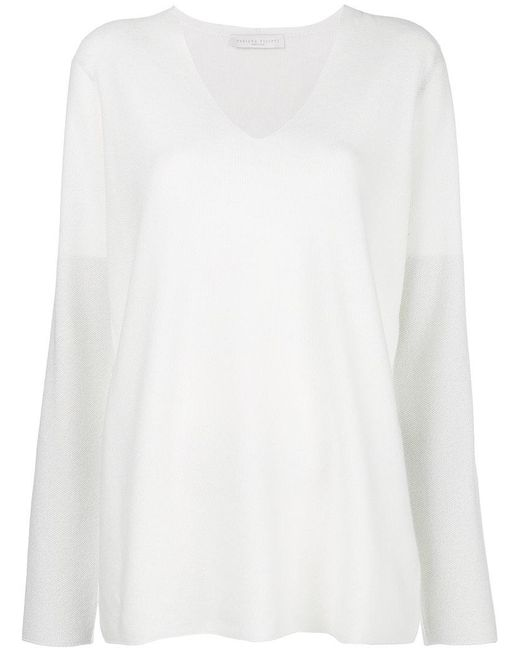 Fabiana Filippi - White V-neck Sweater - Lyst