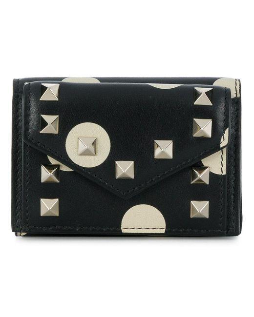 Valentino - Black Mini Tri-fold Wallet - Lyst