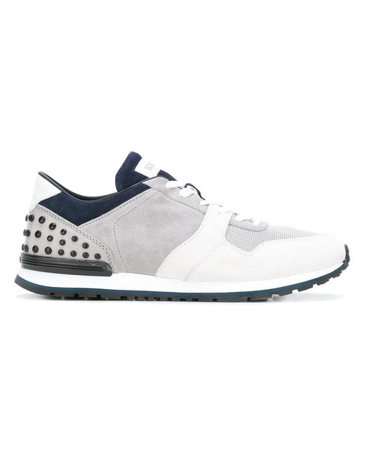 Tod's - Gray Studded Heel Sneakers for Men - Lyst