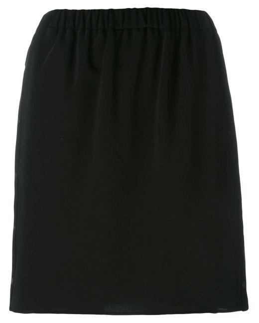 KENZO Black Elasticated Skirt