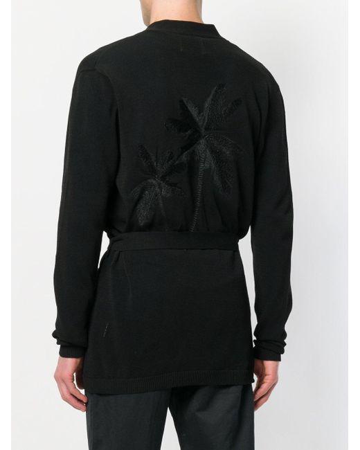 tie-waist cardigan - Black Laneus Discount Codes Shopping Online Bulk Designs Cheap Sale Nicekicks Ow8Cbv