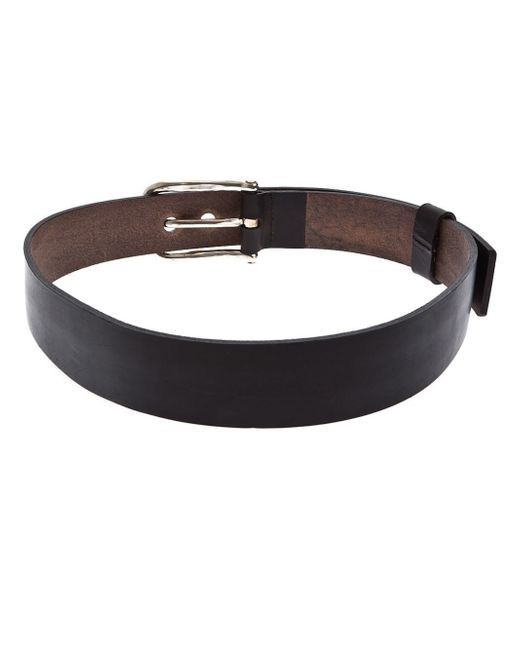 werkstatt m nchen werkstatt m nchen leather belt in black for men lyst. Black Bedroom Furniture Sets. Home Design Ideas