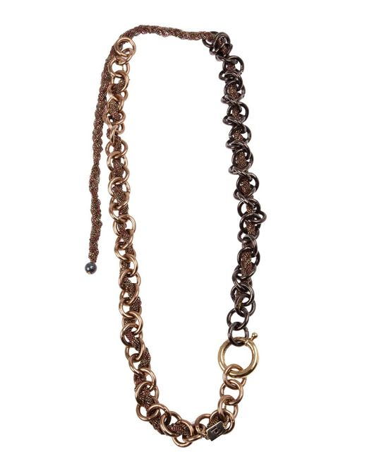 Rosantica | Gray Chunky Chain Necklace | Lyst