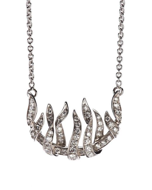 Garrard | Metallic 'fire Of London' Pendant Necklace | Lyst