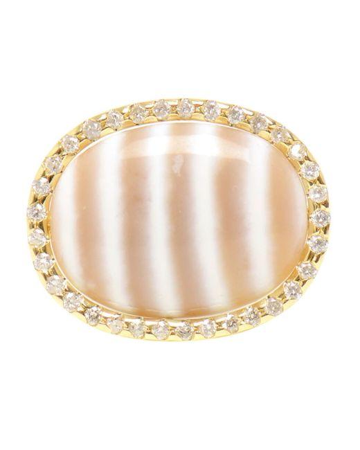 Kimberly Mcdonald | Metallic Chalcedony And Diamond Ring | Lyst