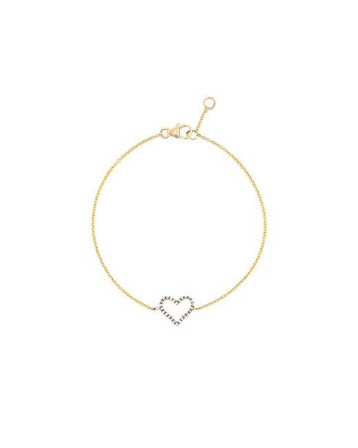 Rosa De La Cruz | Black Micro Diamond Heart Bracelet | Lyst