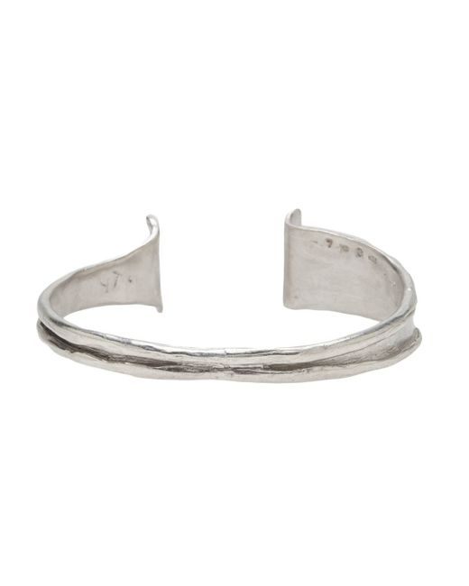 1-100 | Metallic Silver Bangle | Lyst