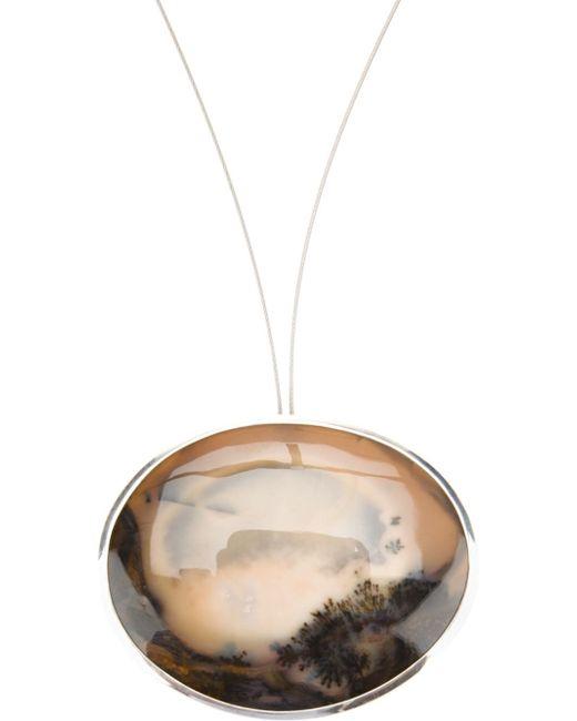 Uzerai Edits   Brown Dendritic Agate Necklace   Lyst