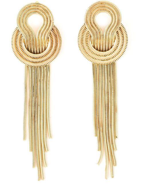 Lara Bohinc | Yellow 'saturn' Earrings | Lyst