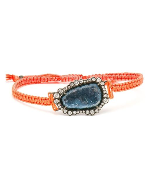 Kimberly Mcdonald | Orange 18kt White Gold, Dark Geode And Macramé Bracelet | Lyst