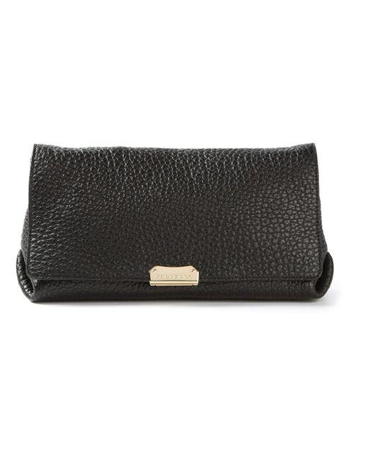 Burberry   Black Front Flap Shoulder Bag   Lyst