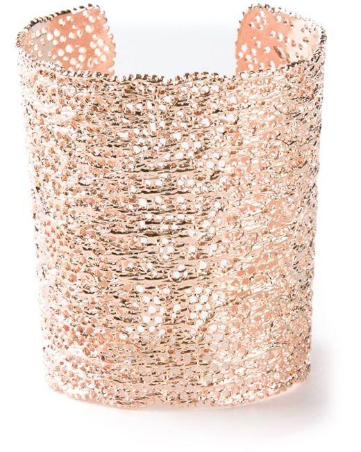 Aurelie Bidermann | Metallic 'vintage Lace' Cuff | Lyst