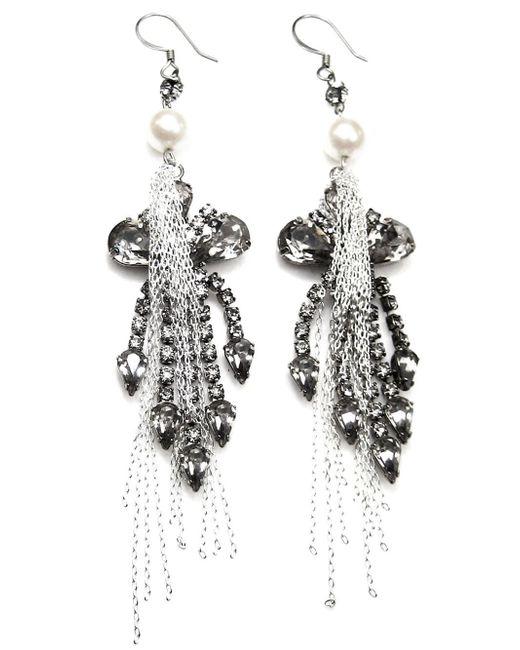 Tom Binns | Metallic Chandelier Chain Earrings | Lyst