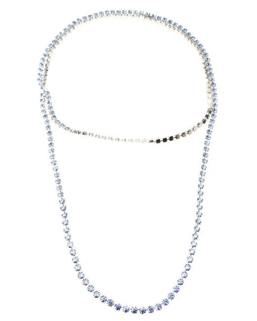 Tom Binns   Blue Long 3 Strand Crystal Necklace   Lyst