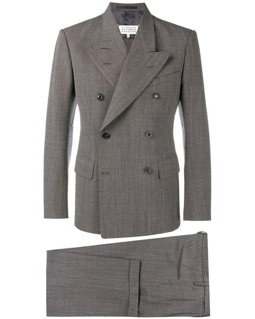 Maison Margiela - Brown Double Breasted Suit for Men - Lyst