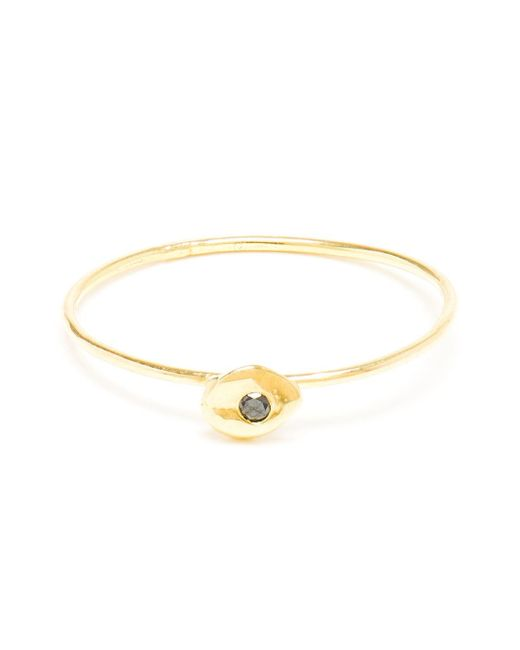 Natasha Collis | Metallic Slim 18kt Gold And Black Diamond Ring | Lyst