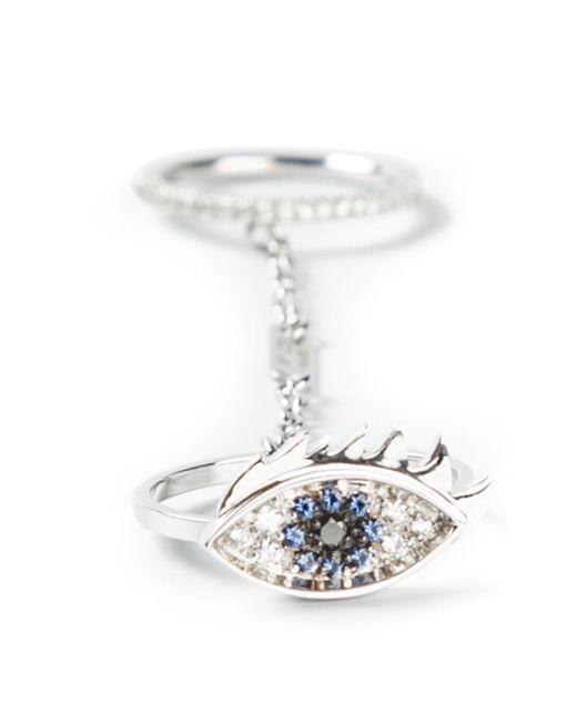 Delfina Delettrez   Metallic 'two In One' Sapphire And Diamond Eye Ring   Lyst