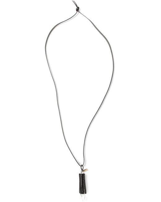 Ann Demeulemeester | Black Diamond-shaped Pendant Necklace | Lyst