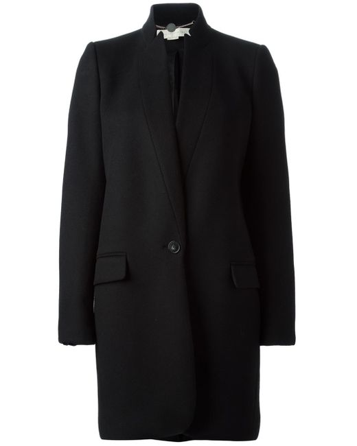 stella mccartney classic coat in black lyst. Black Bedroom Furniture Sets. Home Design Ideas