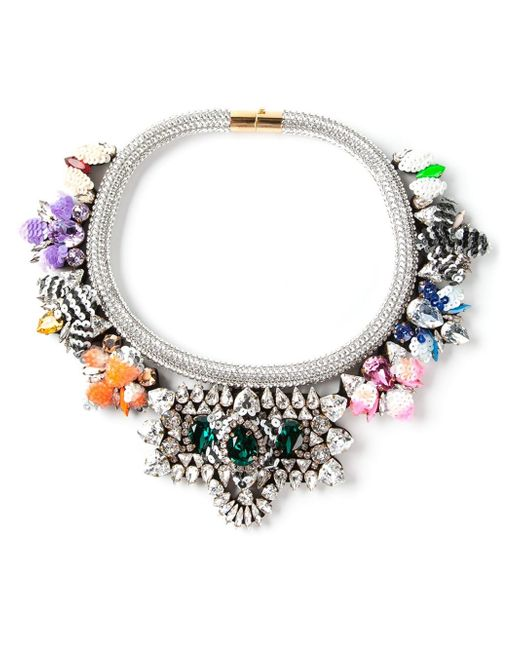 Shourouk | Metallic 'avalon' Necklace | Lyst