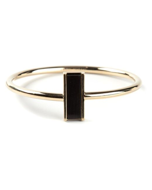 Isabel Marant | Black Rectangular Detail Bangle | Lyst