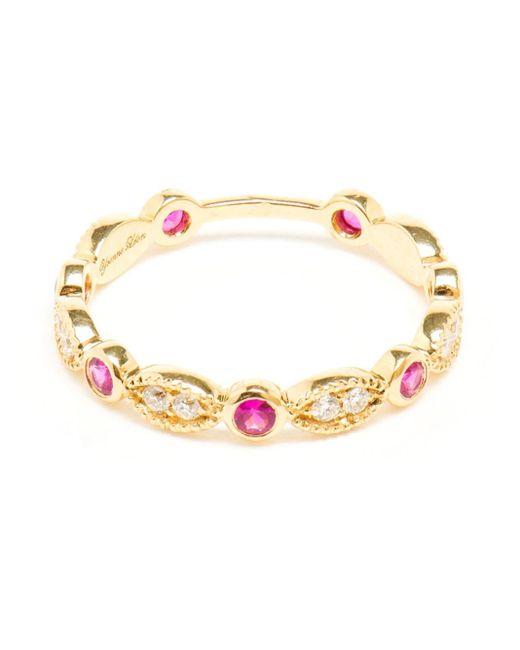 Yvonne Léon | Metallic Antique Diamond And Ruby Ring | Lyst