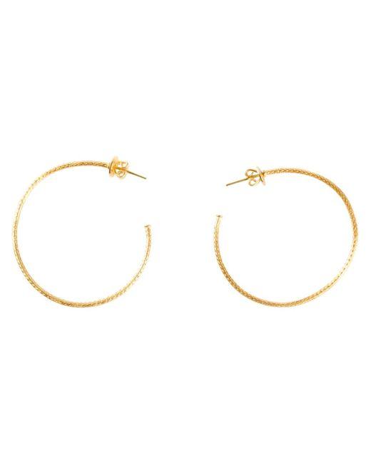 Marie-hélène De Taillac   Metallic 22kt Gold Hoop Earrings   Lyst