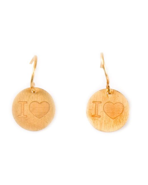Marie-hélène De Taillac | Metallic 22kt Gold 'i Love' Earrings | Lyst