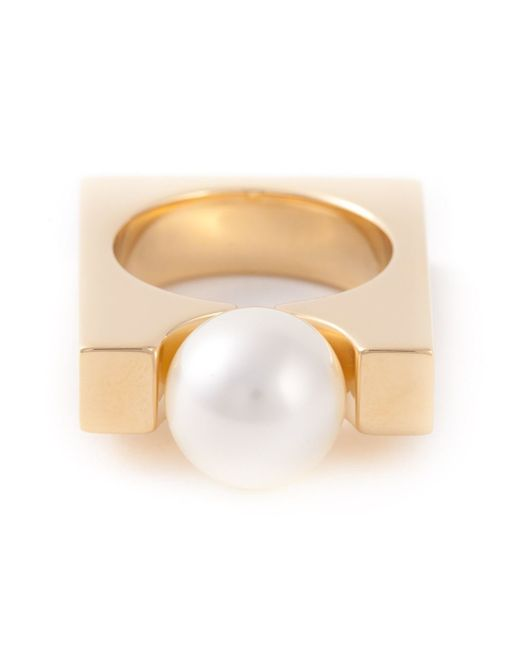 Chloé | Metallic 'darcey Square' Ring | Lyst