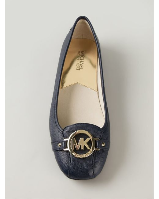 michael michael kors 39 fulton 39 ballerinas in blue lyst. Black Bedroom Furniture Sets. Home Design Ideas
